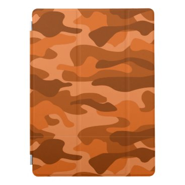 Spanish Orange Monocolor Camo iPad Pro Cover