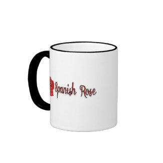Spanish Rose Red and Black Text Coffee Mug
