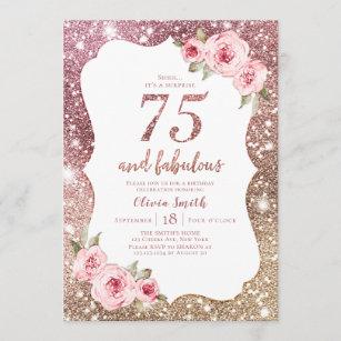 75th birthday invitations zazzle