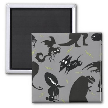 Sparky Running Silhouette Magnet