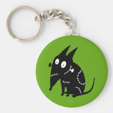 Sparky Sitting Silhouette Keychain