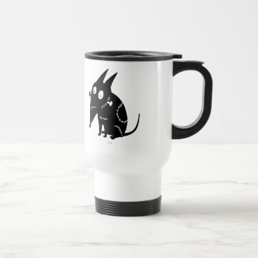 Sparky Sitting Silhouette Travel Mug