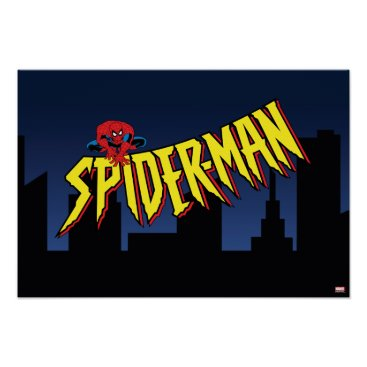 Spider-Man 90's Animated Series Title Screen Poster