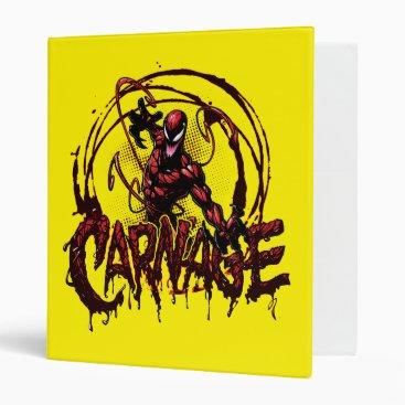 Spider-Man | Carnage Name Graphic 3 Ring Binder