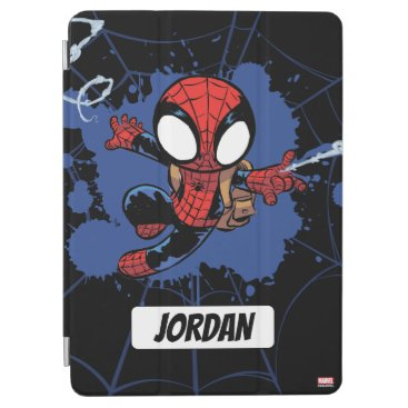 Spider-Man | Chibi Spider-Man Web-Swinging iPad Air Cover