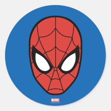 Spider-Man Head Icon Classic Round Sticker