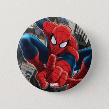 Spider-Man High Above the City Button