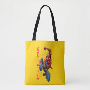 Spider-Man | High-Tech Circuit Character Art Tote Bag