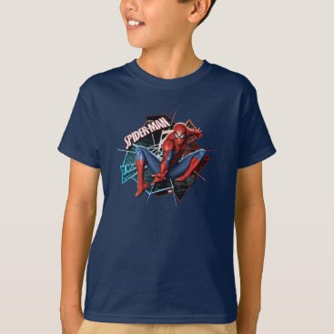 Spider-Man in Fractured Web Graphic T-Shirt