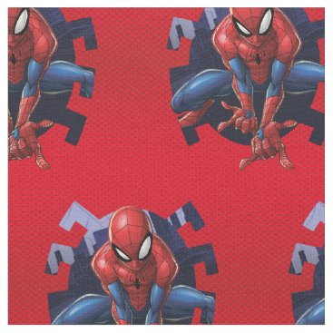 Spider-Man Leaping Out Of Spider Graphic Fabric