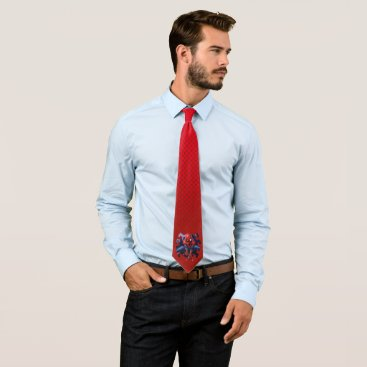 Spider-Man Leaping Out Of Spider Graphic Neck Tie