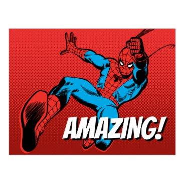 Spider-Man Retro Swinging Kick Postcard