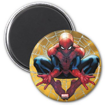 Spider-Man   Sitting In A Web Magnet
