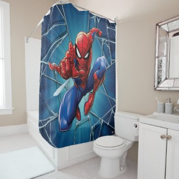 Spider-Man | Web-Shooting Leap Shower Curtain