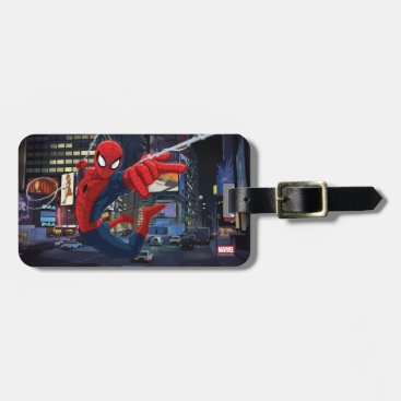 Spider-Man Web Slinging Through Traffic Bag Tag