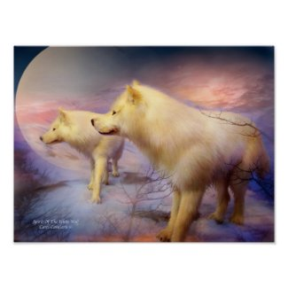 Spirit Of The White Wolf Art Poster/Print