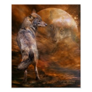 Spirit Of The Wolf Art Poster/Print