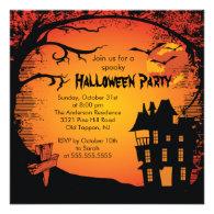 Spooky Haunted House Halloween Party Invitation