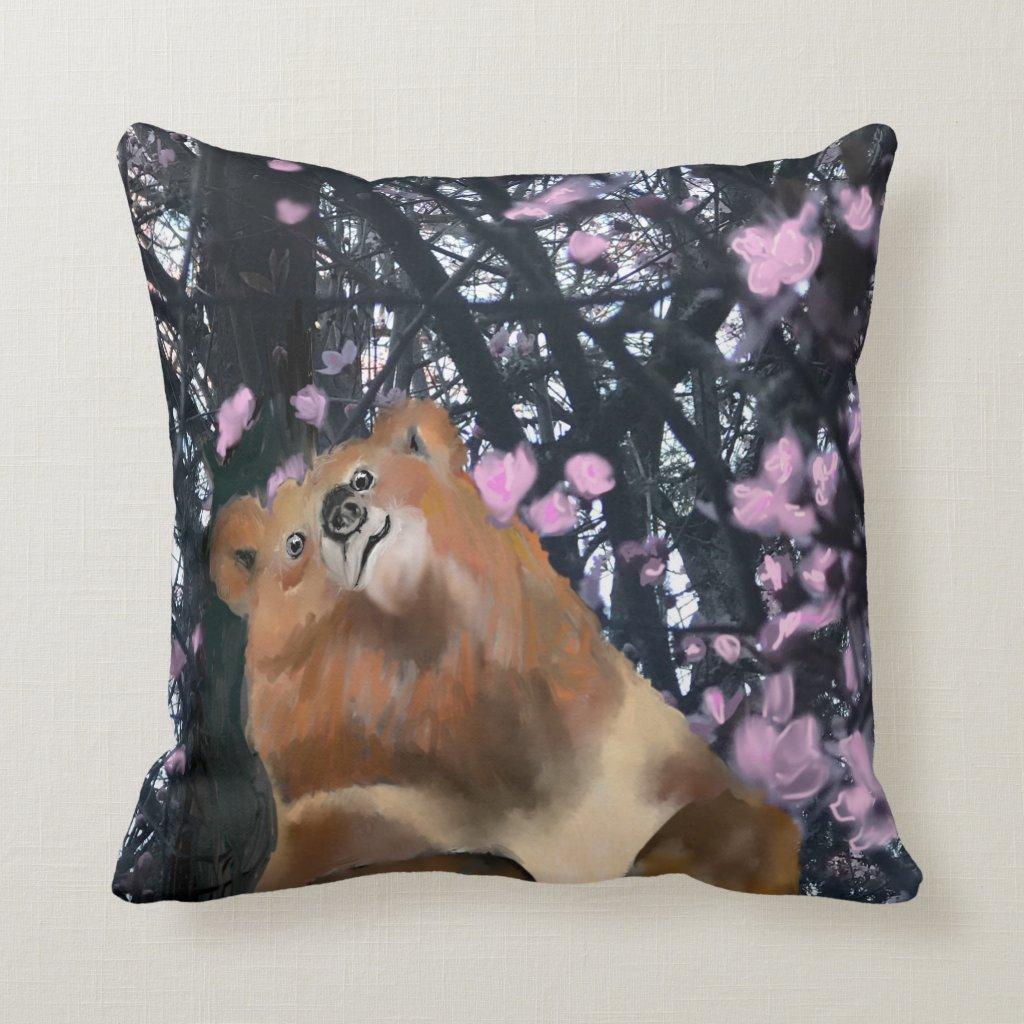 Spring Break With Bare Necessities Throw Pillow