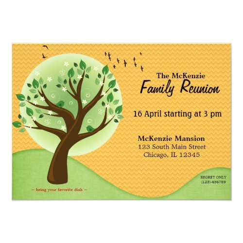 Spring Family Reunion Card