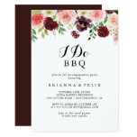 Spring Floral I Do BBQ Engagement Party Invitation