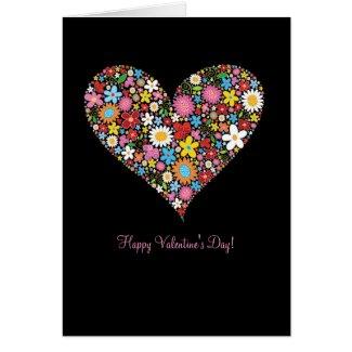 Spring Flowers Valentine Heart Gift Love Card