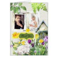 Spring Garden Wedding Custom Thank You Note Cards
