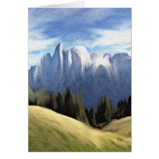 Spring In The Mountains Card