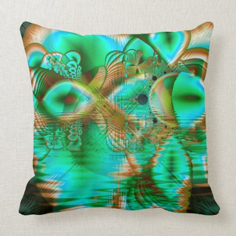 Spring Leaves, Abstract Crystal Flower Garden Throw Pillow