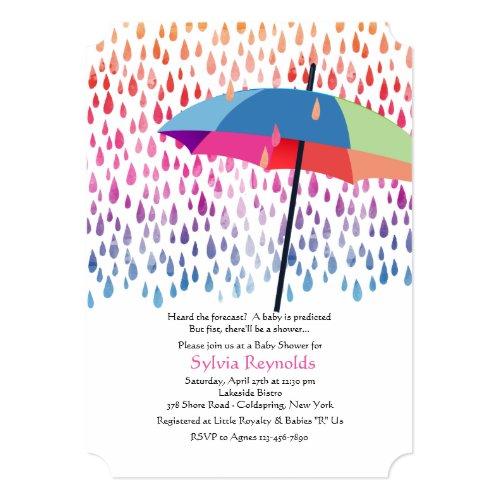 Spring Rain Baby Shower Invitation