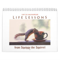 Squiggy the Squirrel 2014 Wall Calendar