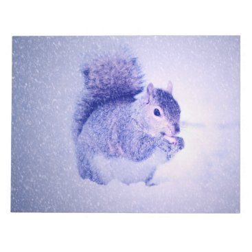 Squirrel in snow notepad