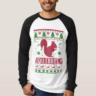 Squirrel Ugly Christmas T-Shirt