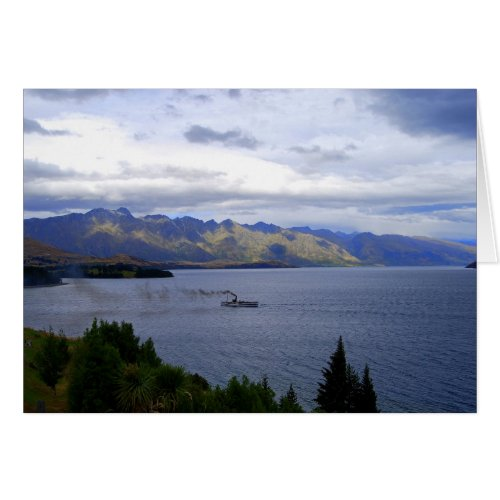 SS Earnslaw on Lake Wakatipu, Queenstown, NZ card