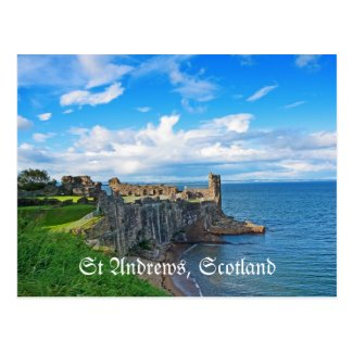 St Andrews Castle, Scotland, postcard