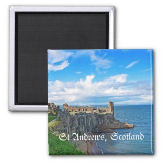 St Andrews Castle, Scotland Refrigerator Magnets