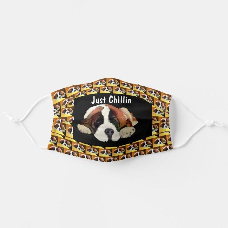 St Bernard Puppy Pattern Cloth Face Mask
