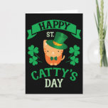 St Catrick's Day Cat St Patrick's Day Card