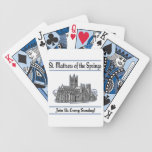 """""""St. Mattress Of The Springs"""" Church playing cards"""