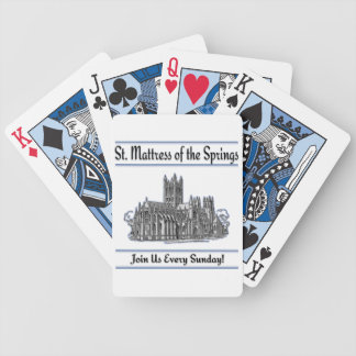"""St. Mattress Of The Springs"" Church Card Decks"