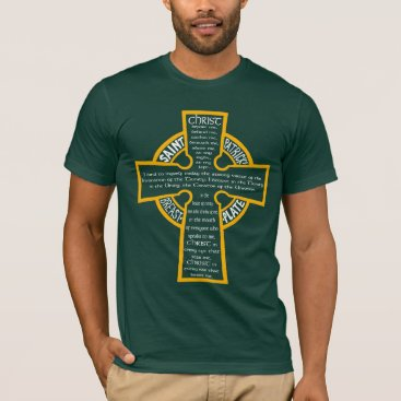 St. Patrick's Breastplate T-shirt (or/wh)