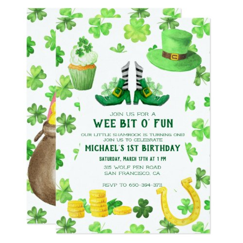 St. Patrick's Day Birthday Party Invitation