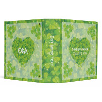 St. Patrick's Day Irish clover wedding binder