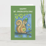 ST. PATRICKS DAY LEPRECHAUN SQUIRREL GREETING CARD