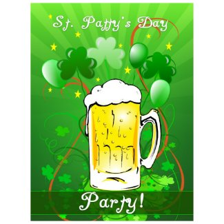 St. Patrick's Day Party Invitation Postage Stamp stamp