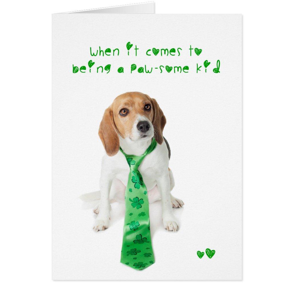 St Patricks Day Pawsome Kid Beagle