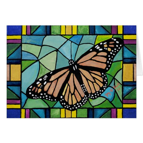 Stained Glass Butterfly Card