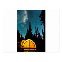 Star Camping Postcard
