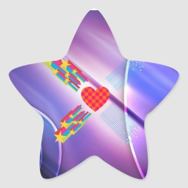 Star Heart Star Sticker
