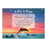 Star Is Born Sea Animal Dolphins Baby Shower Invitation